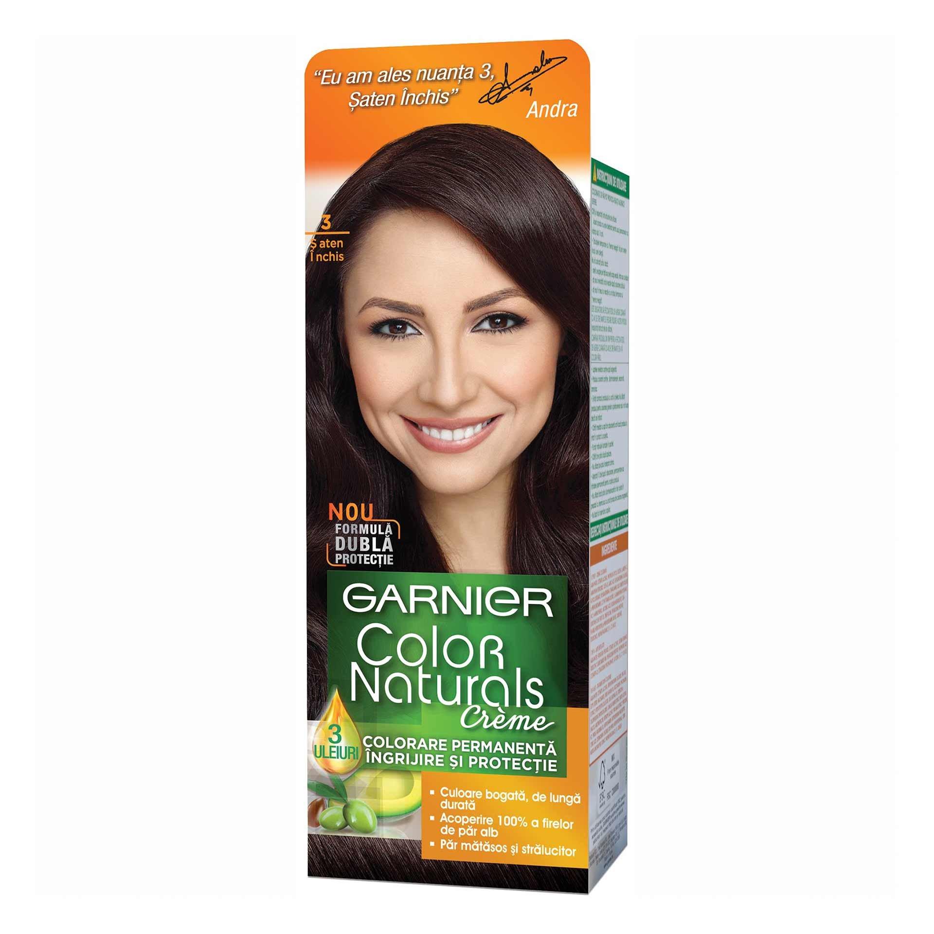 Vopsea Par Garnier Color Naturals 3 Saten Inchis Shopidoki