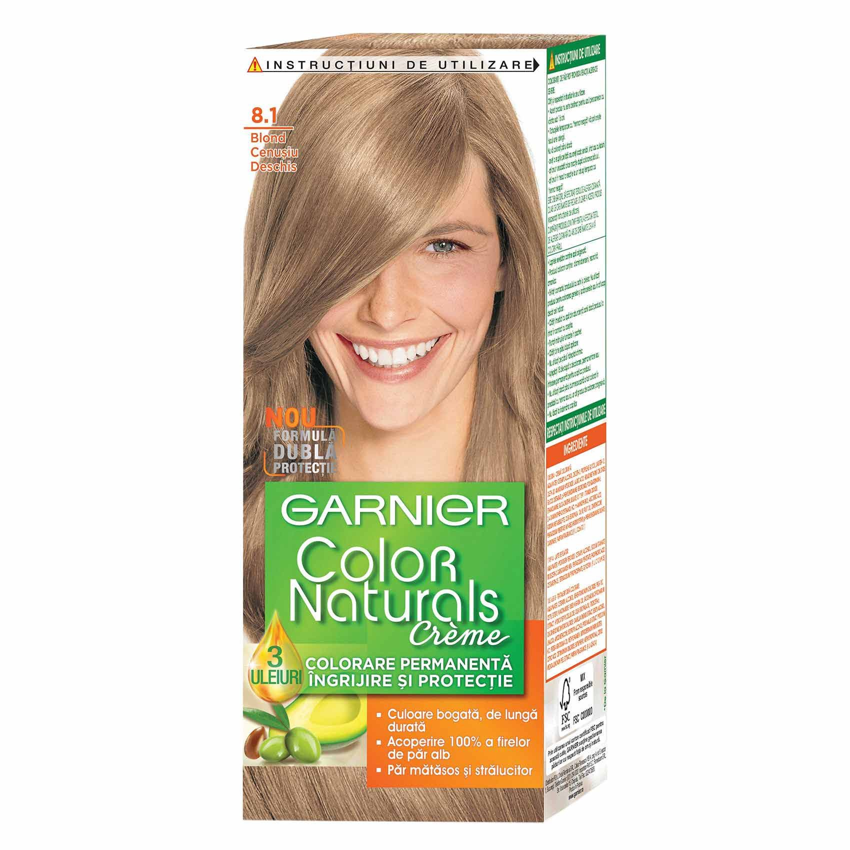 Vopsea Par Garnier Color Naturals 81 Blond Cenusiu Deschis Shopidoki
