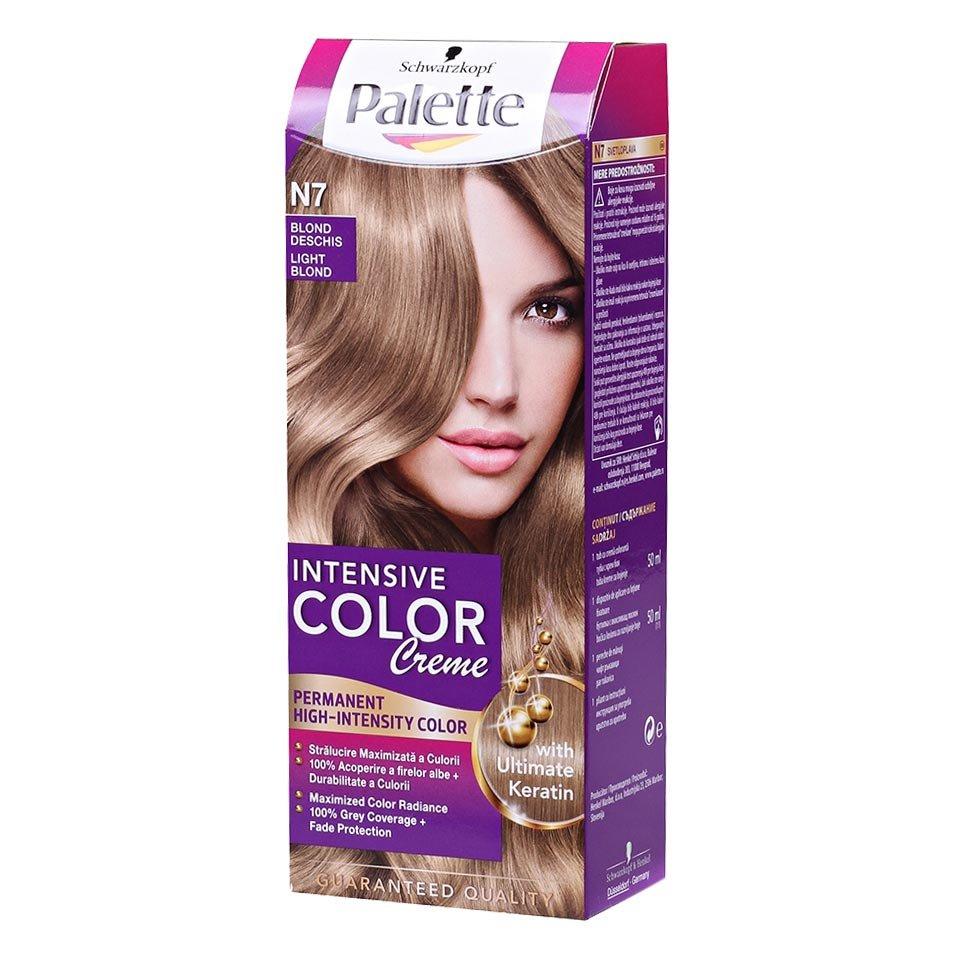 Vopsea Par Palette Intensive Color Creme N7 Blond Deschis Shopidoki